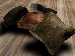 cushions 3d 3ds