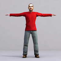 3d 3ds axyz characters rigged human