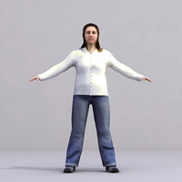 3ds max axyz characters rigged human