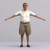 3d model axyz characters rigged human