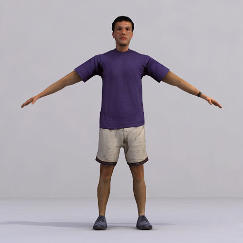 axyz characters rigged human 3d model
