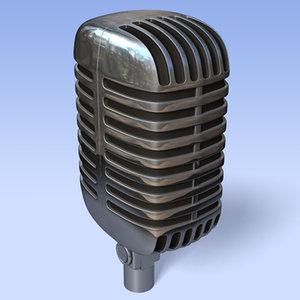 shure microphone 3d model