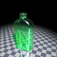 3d glass bottle model