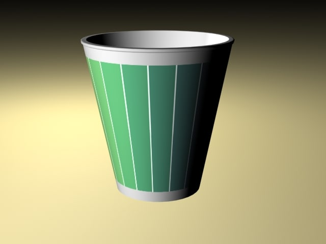 3ds max paper cup