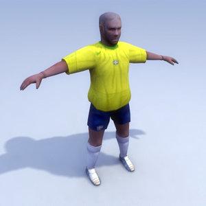 brazilian soccer player brazil 3d 3ds