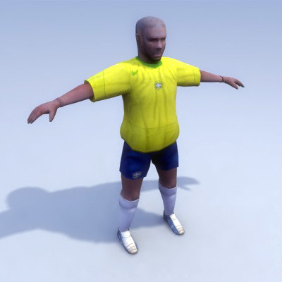 brazilian soccer player brazil 3d 3ds