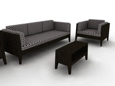 sofas marcel wanders 3d model