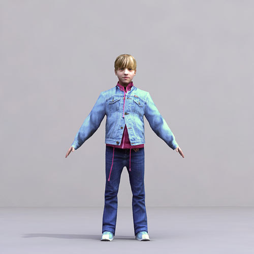 3d axyz characters rigged human