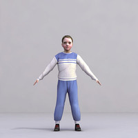 axyz characters rigged human 3d 3ds