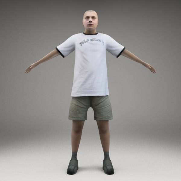 axyz characters rigged human 3ds