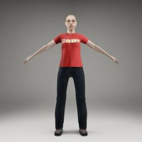 3d axyz characters rigged human model