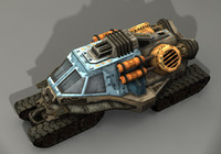 3d model sci-fi vehicle trike