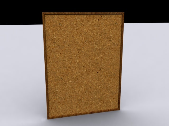 pin board 3d model