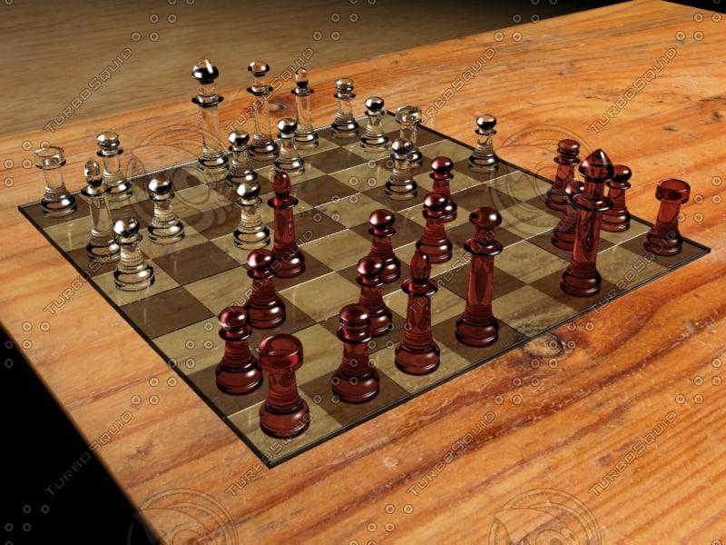 s max glass chess board