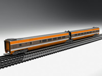 1st generation tgv high-speed 3d model