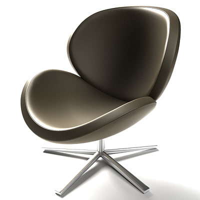 shell armchair boconcept 3d model