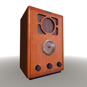 vintage radio realtime 3d model