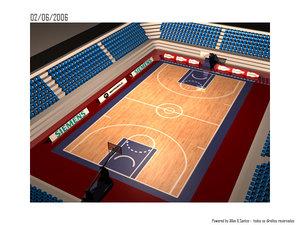 3d c4d arena basketball