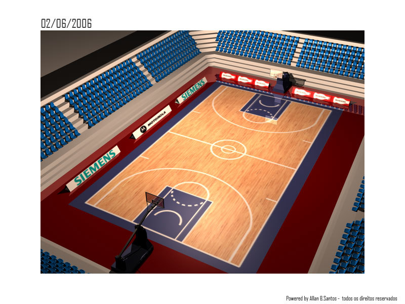 3d c4d arena basketball