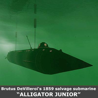 u s alligator submarine 3ds
