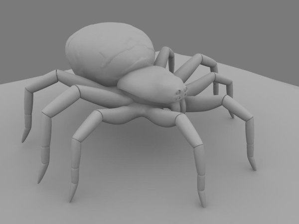 spider 3d obj