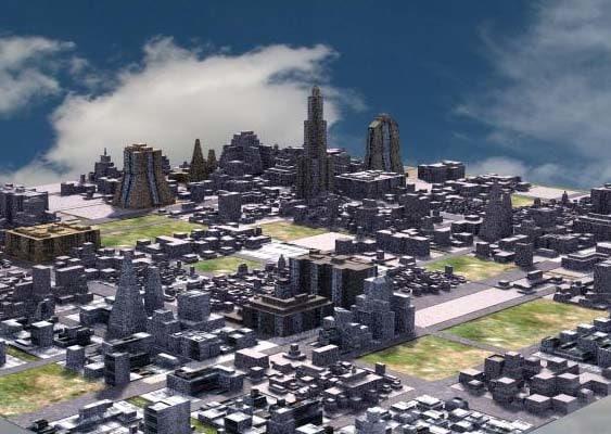 modelling citys buildings 3d model