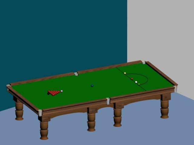maya snooker table