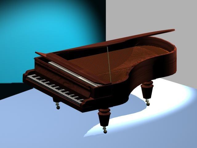 free grand piano 3d model