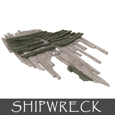 3d shipwreck ship