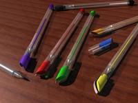 pens gel 3d model