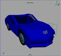free racing car 3d model