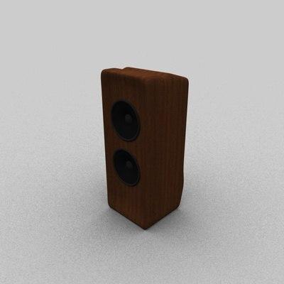 3d model wood speaker