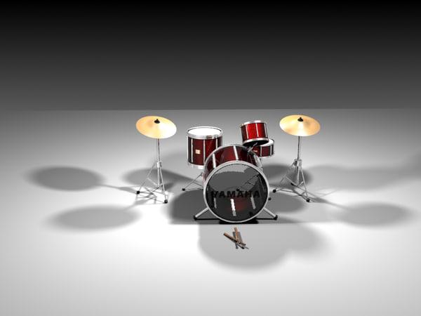 3d drumset drum