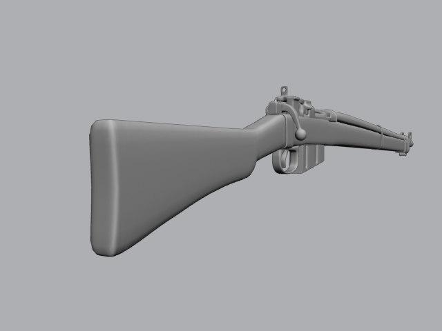 3d wwii lee enfield bolt action model