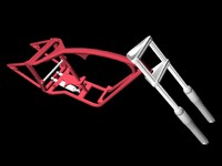 chopper motorcycle frame 3d model