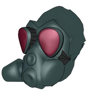 free gas mask 3d model