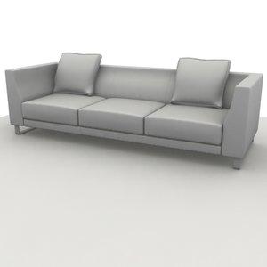 3d sofa ginevra 3p