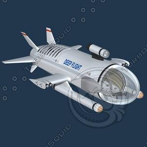 3ds experimental submarine deepflight