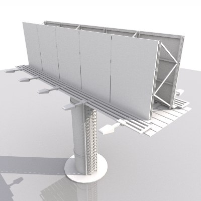 3d billboard model