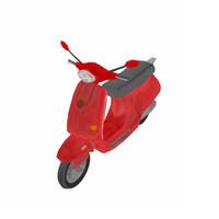 modern scooter 3d max
