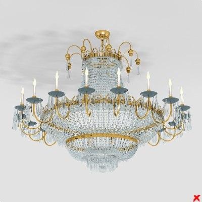 3d model chandelier lamp