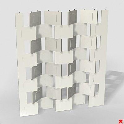 3d model folding screen