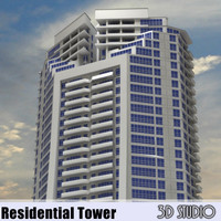3ds max luxury residential tower