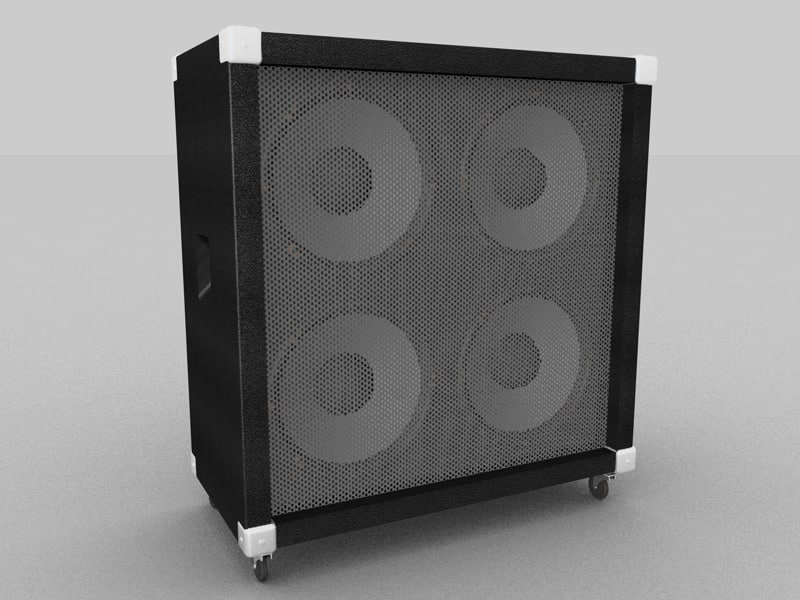 4x12 speaker cab 3d model