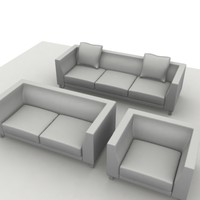 3d model of sofa ginevra composition