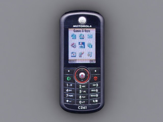 motorola c261 cell phone 3d x