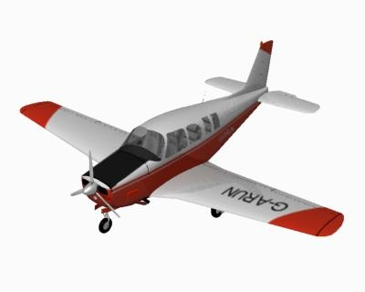 raytheon a36 bonanza aircraft 3d model