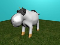 free ma mode cartoon cow