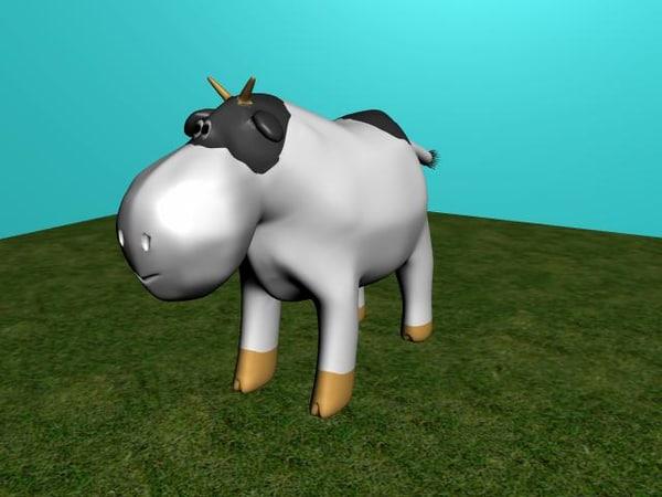 free ma mode cartoon cow
