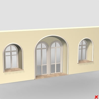 wall window 3d max